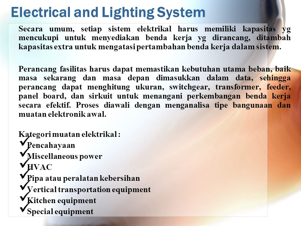 Electrical and Lighting System