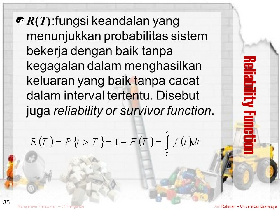 Reliability Function