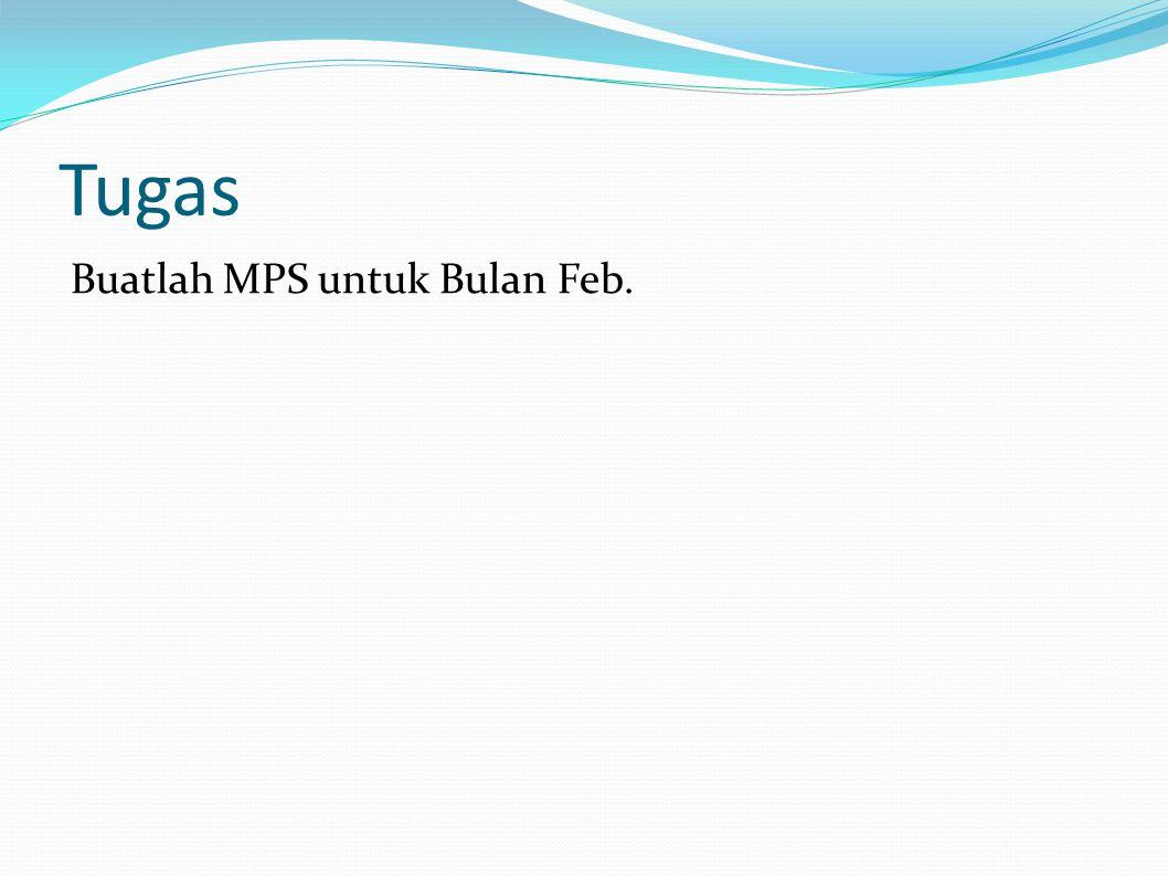 Tugas Buatlah MPS untuk Bulan Feb.