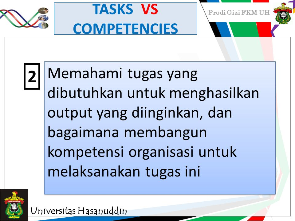 TASKS VS COMPETENCIES