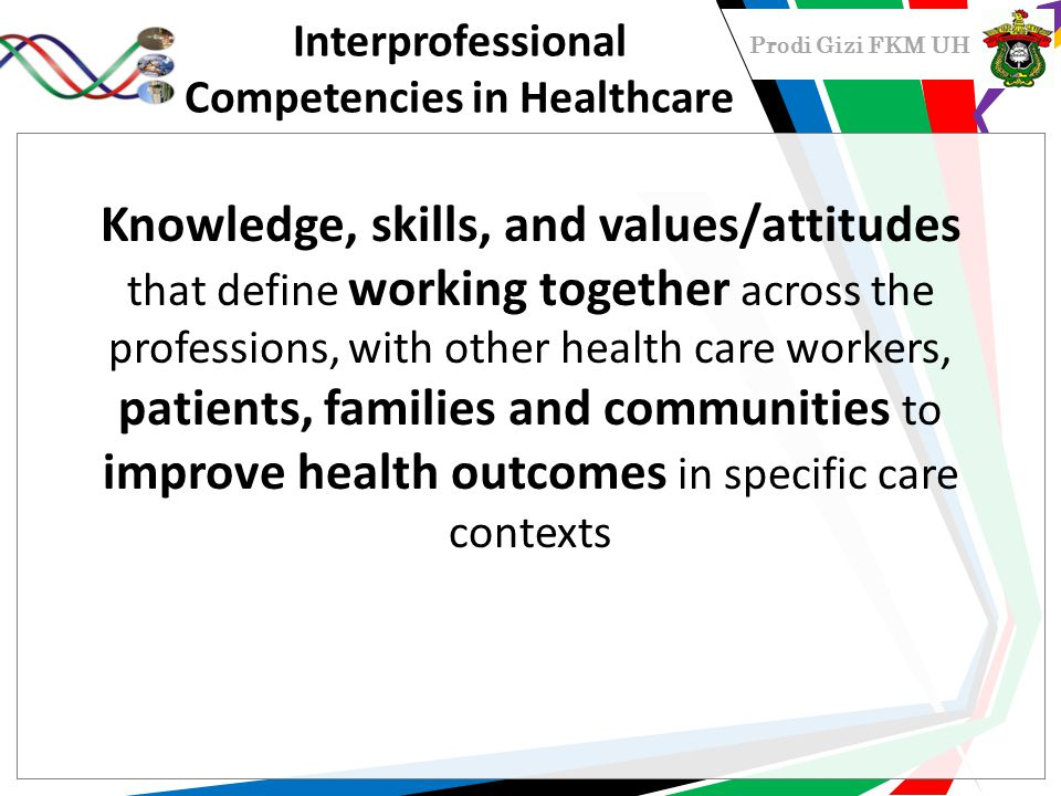 Interprofessional Competencies in Healthcare