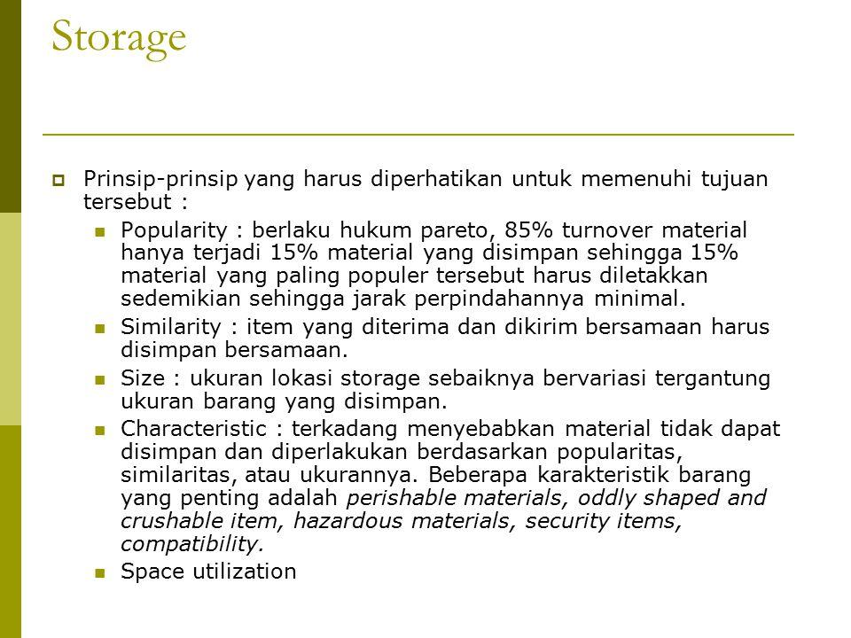 Storage Prinsip-prinsip yang harus diperhatikan untuk memenuhi tujuan tersebut :