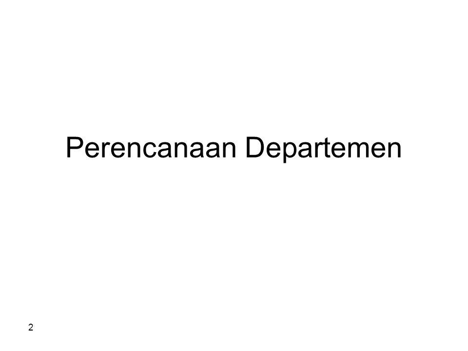 Perencanaan Departemen