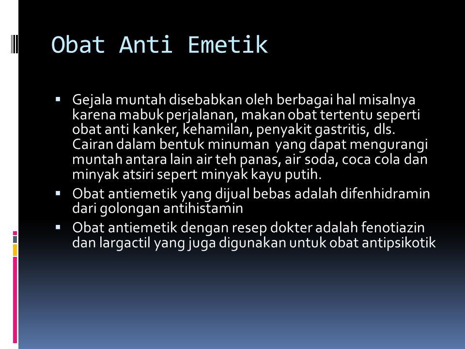 Obat Anti Emetik