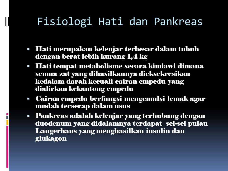 Fisiologi Hati dan Pankreas