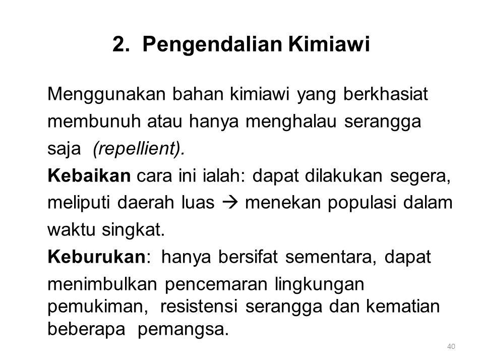 2. Pengendalian Kimiawi