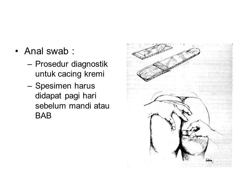 Anal swab : Prosedur diagnostik untuk cacing kremi