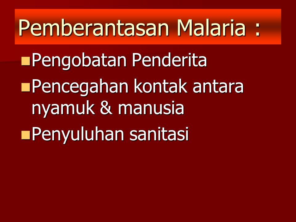 Pemberantasan Malaria :