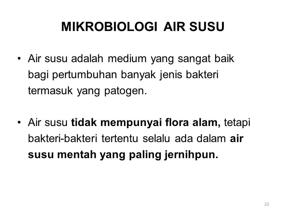 MIKROBIOLOGI AIR SUSU Air susu adalah medium yang sangat baik
