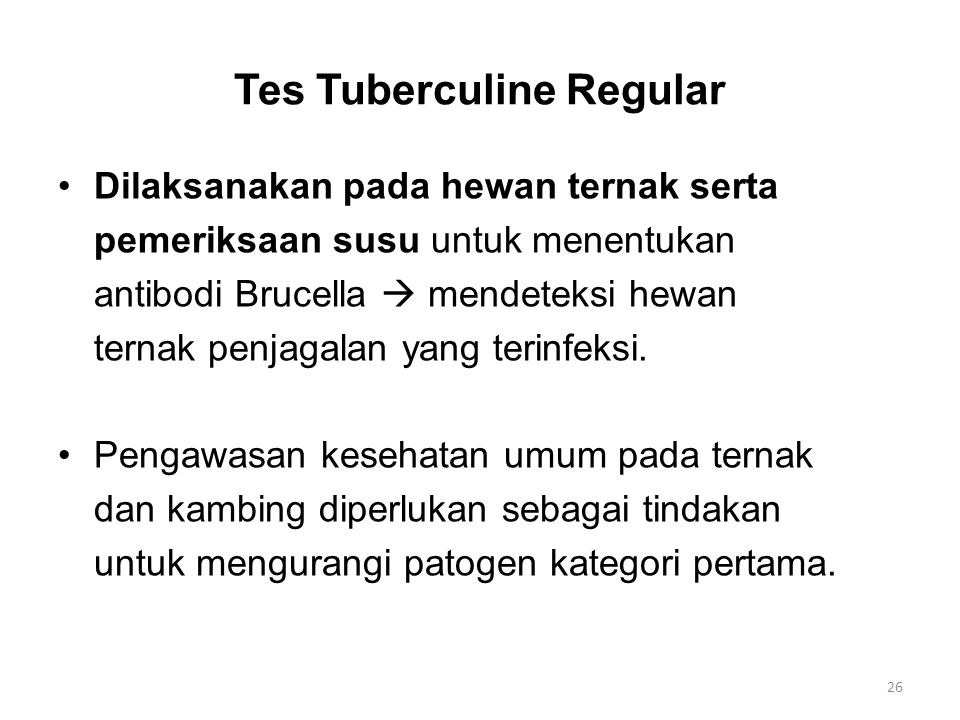 Tes Tuberculine Regular