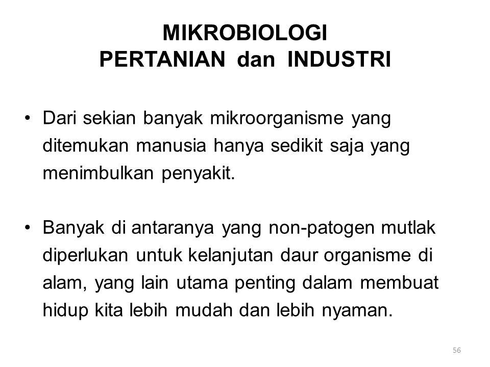 MIKROBIOLOGI PERTANIAN dan INDUSTRI