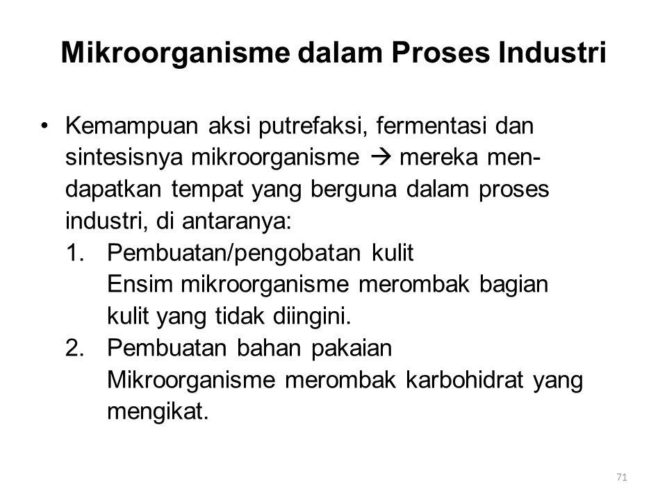 Mikroorganisme dalam Proses Industri