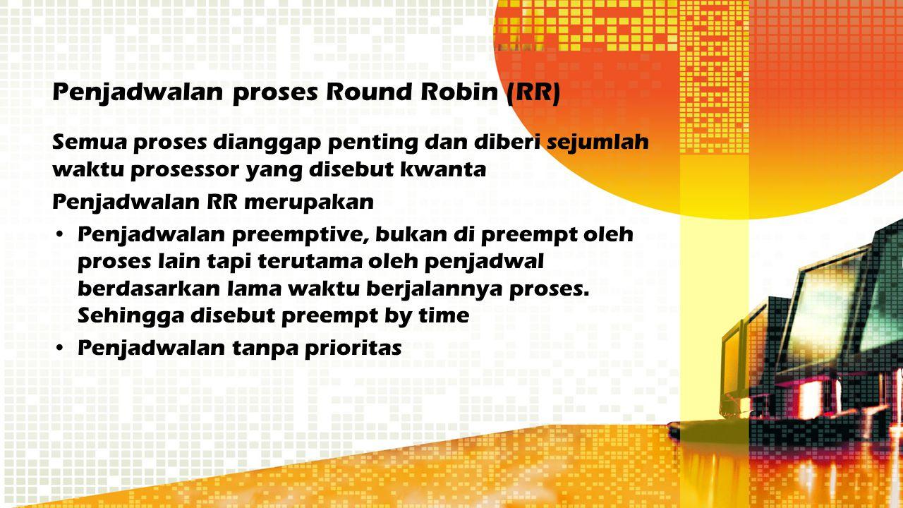 Penjadwalan proses Round Robin (RR)