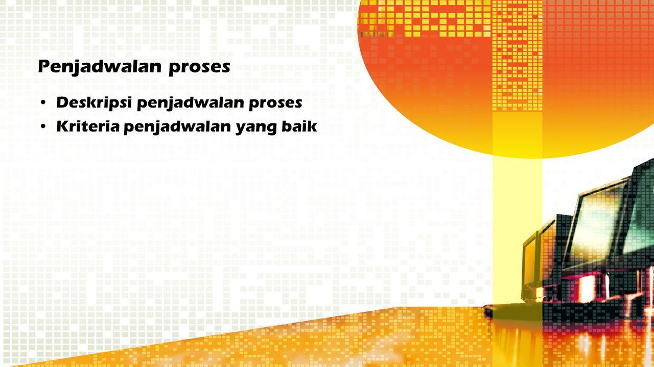 Penjadwalan proses Deskripsi penjadwalan proses