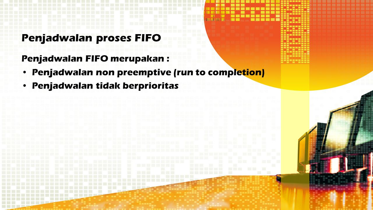Penjadwalan proses FIFO