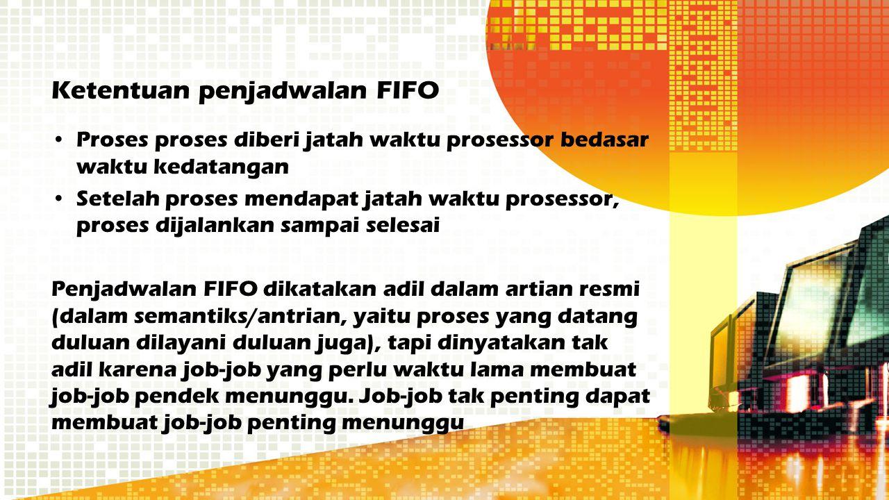 Ketentuan penjadwalan FIFO