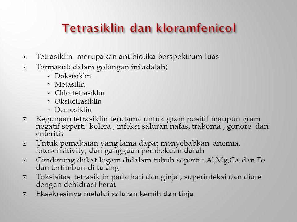 Tetrasiklin dan kloramfenicol