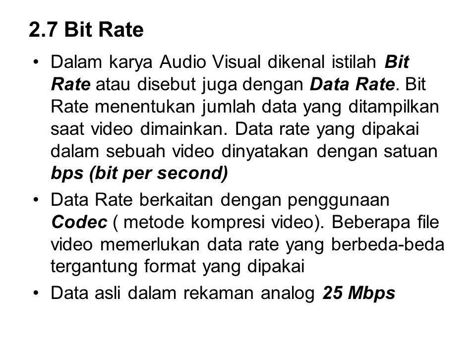2.7 Bit Rate