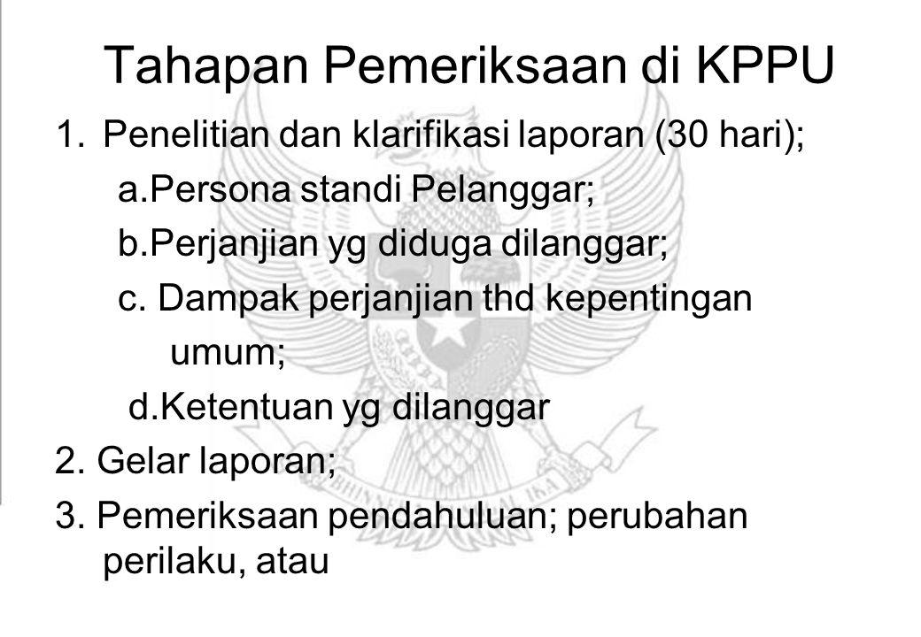 Tahapan Pemeriksaan di KPPU