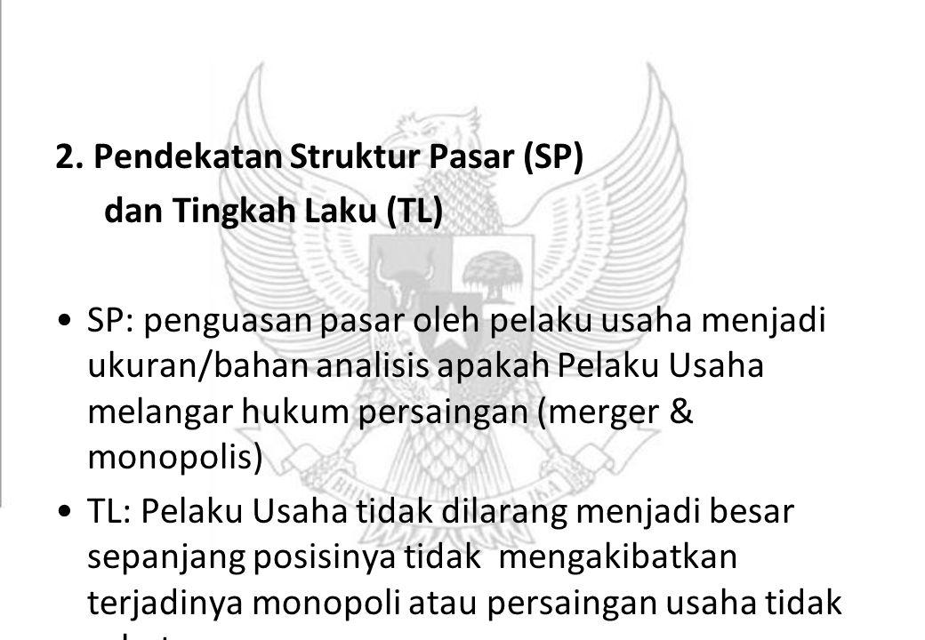 2. Pendekatan Struktur Pasar (SP)