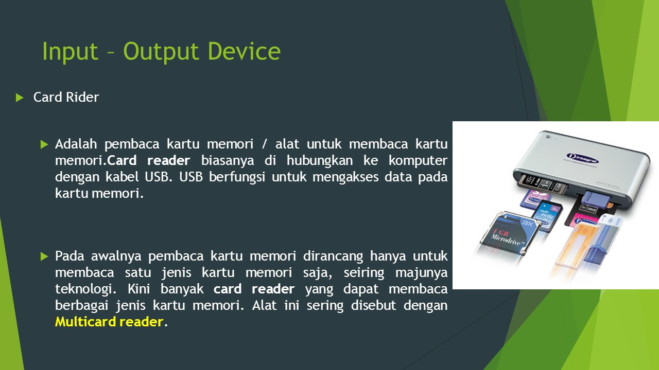 Input – Output Device Card Rider