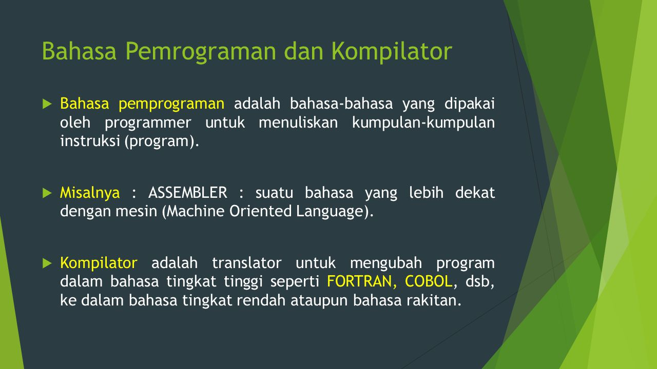 Bahasa Pemrograman dan Kompilator