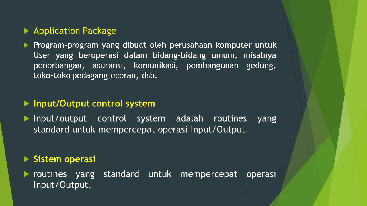 Input/Output control system