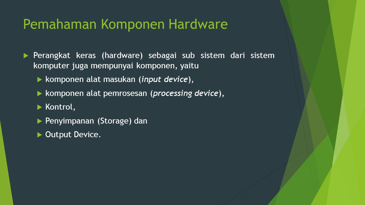 Pemahaman Komponen Hardware
