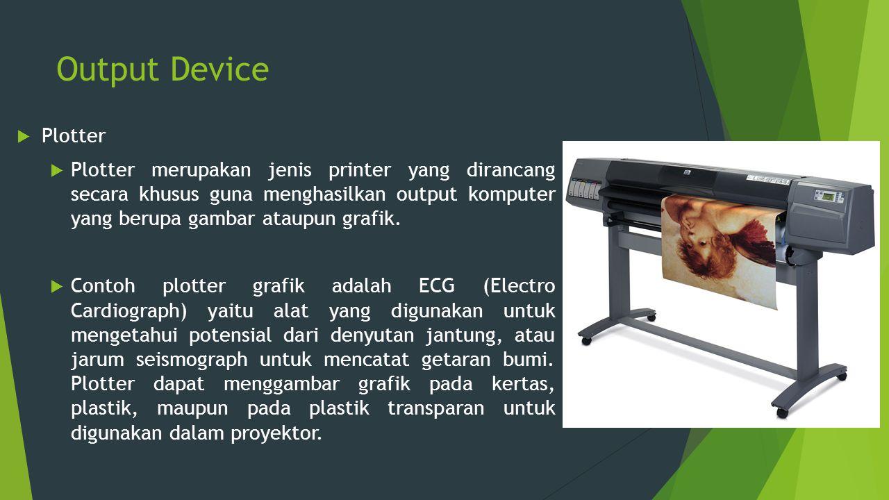 Output Device Plotter.