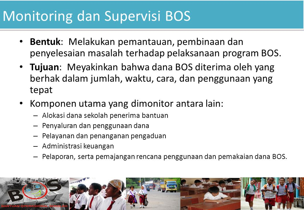 Monitoring dan Supervisi BOS