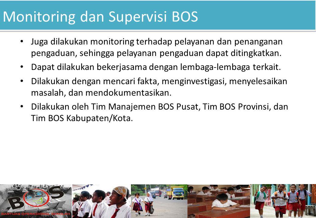 Monitoring dan Supervisi BOS
