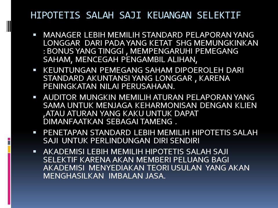 HIPOTETIS SALAH SAJI KEUANGAN SELEKTIF