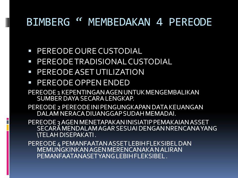 BIMBERG MEMBEDAKAN 4 PEREODE