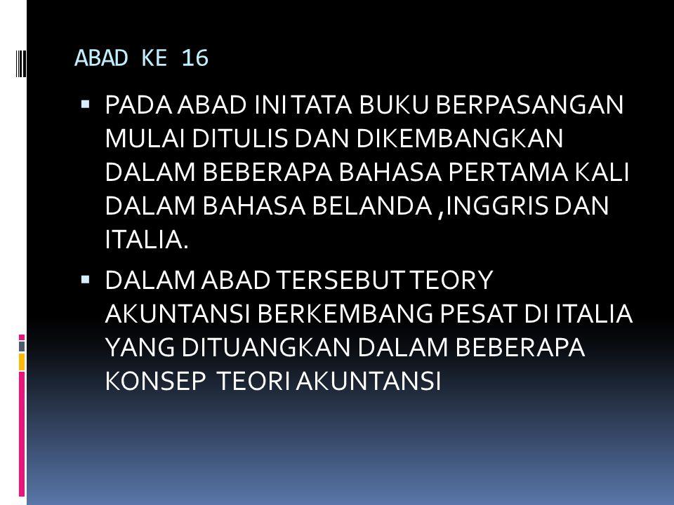 ABAD KE 16