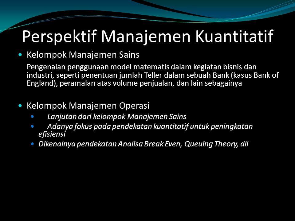 Perspektif Manajemen Kuantitatif