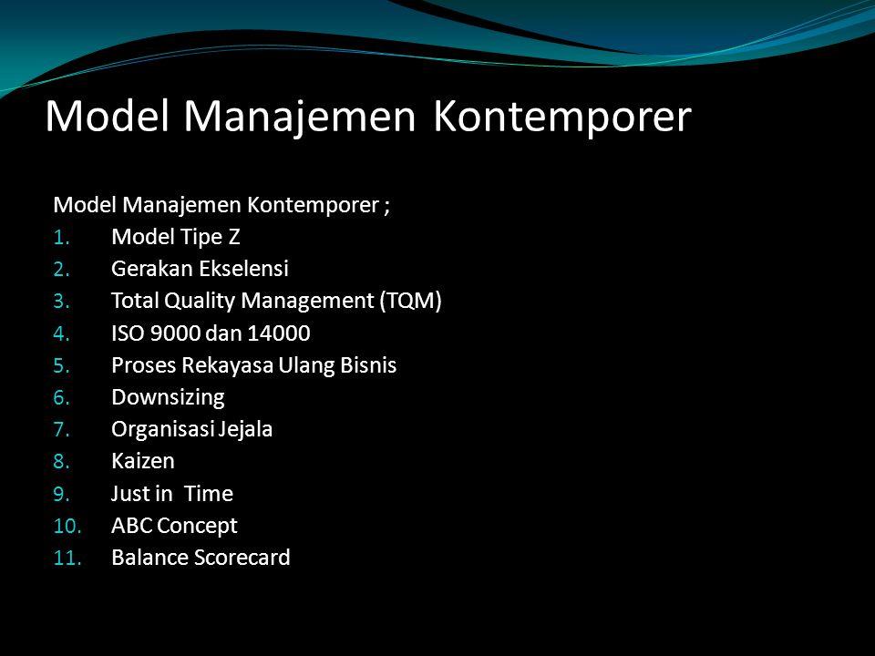Model Manajemen Kontemporer