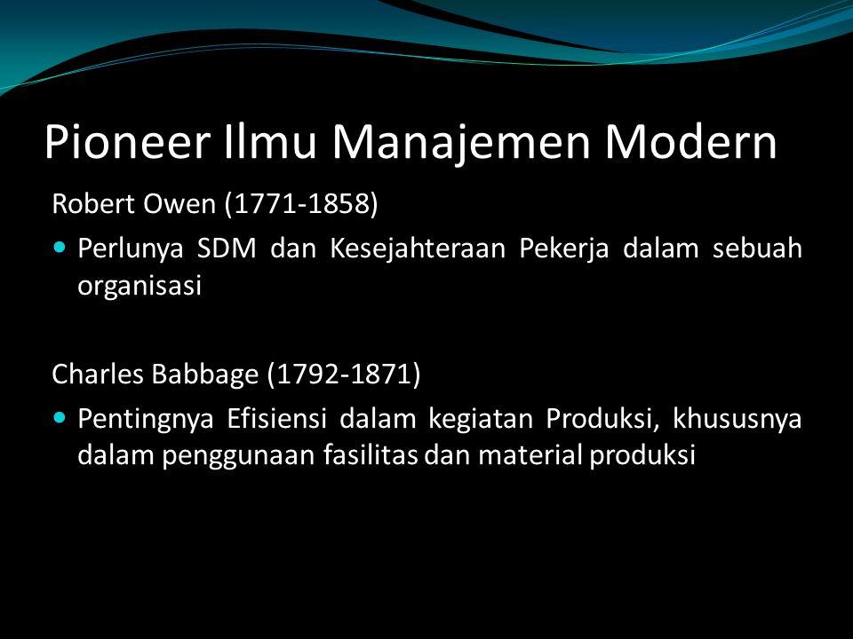 Pioneer Ilmu Manajemen Modern