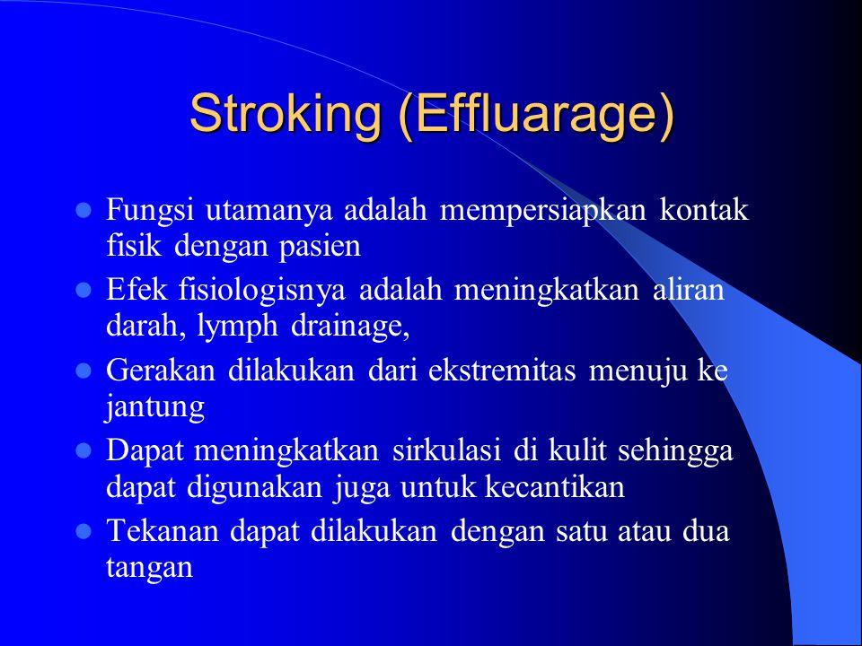 Stroking (Effluarage)