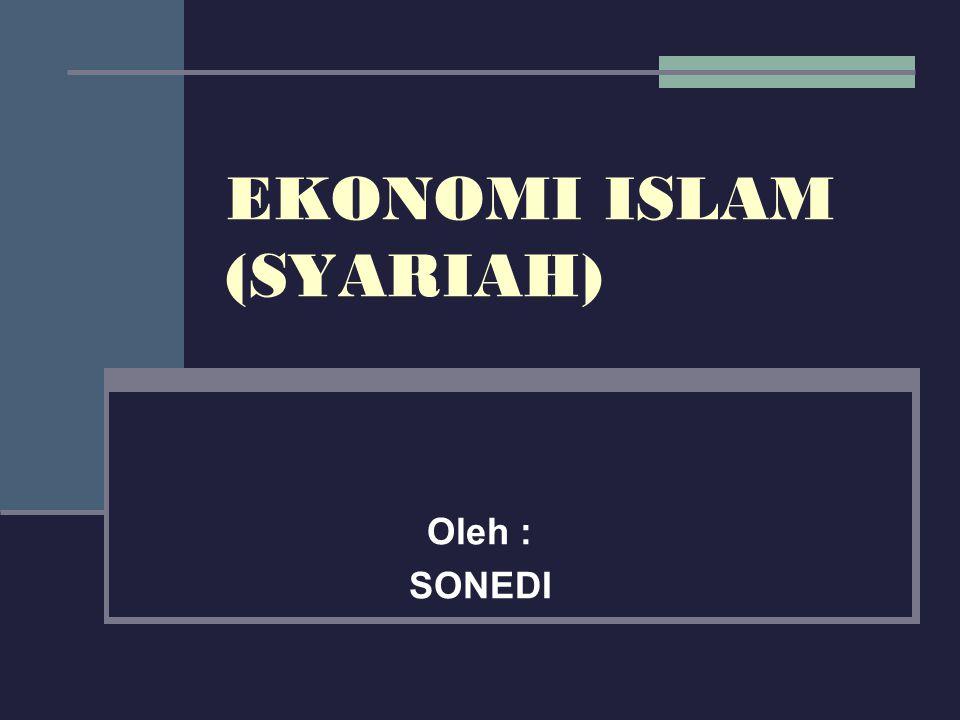 EKONOMI ISLAM (SYARIAH)