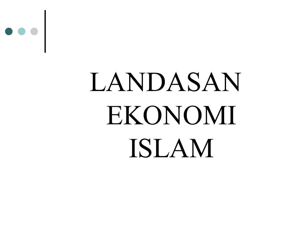LANDASAN EKONOMI ISLAM