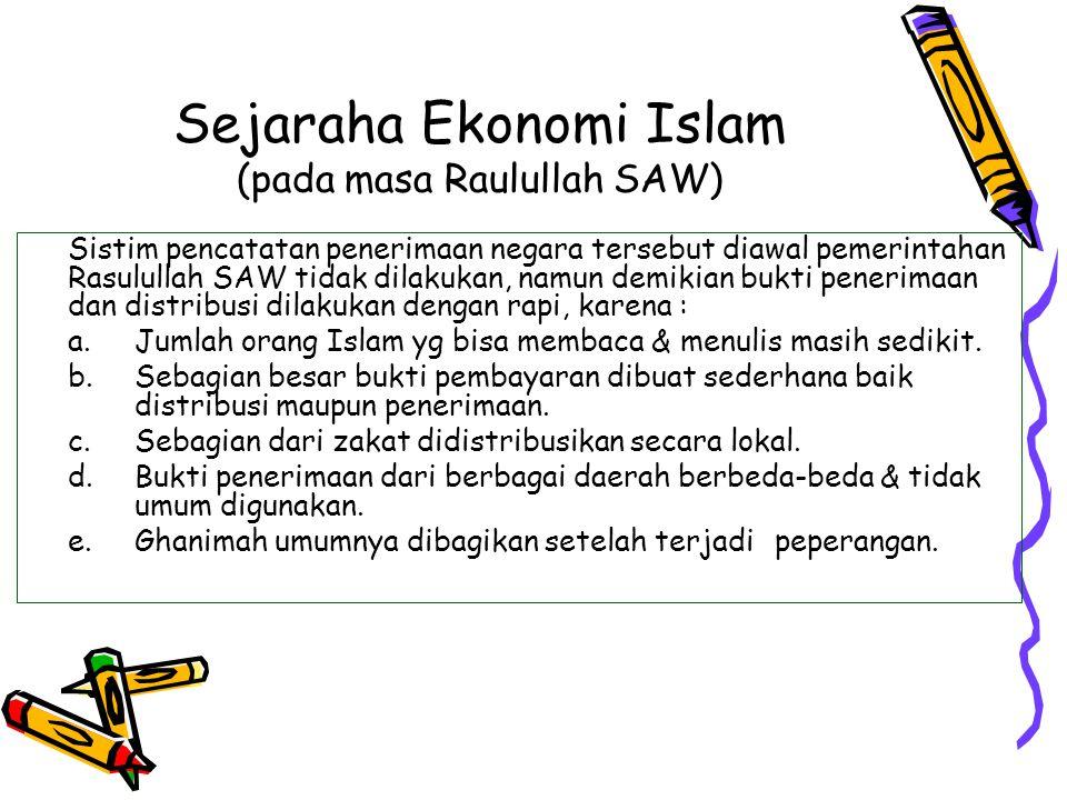 Sejaraha Ekonomi Islam (pada masa Raulullah SAW)