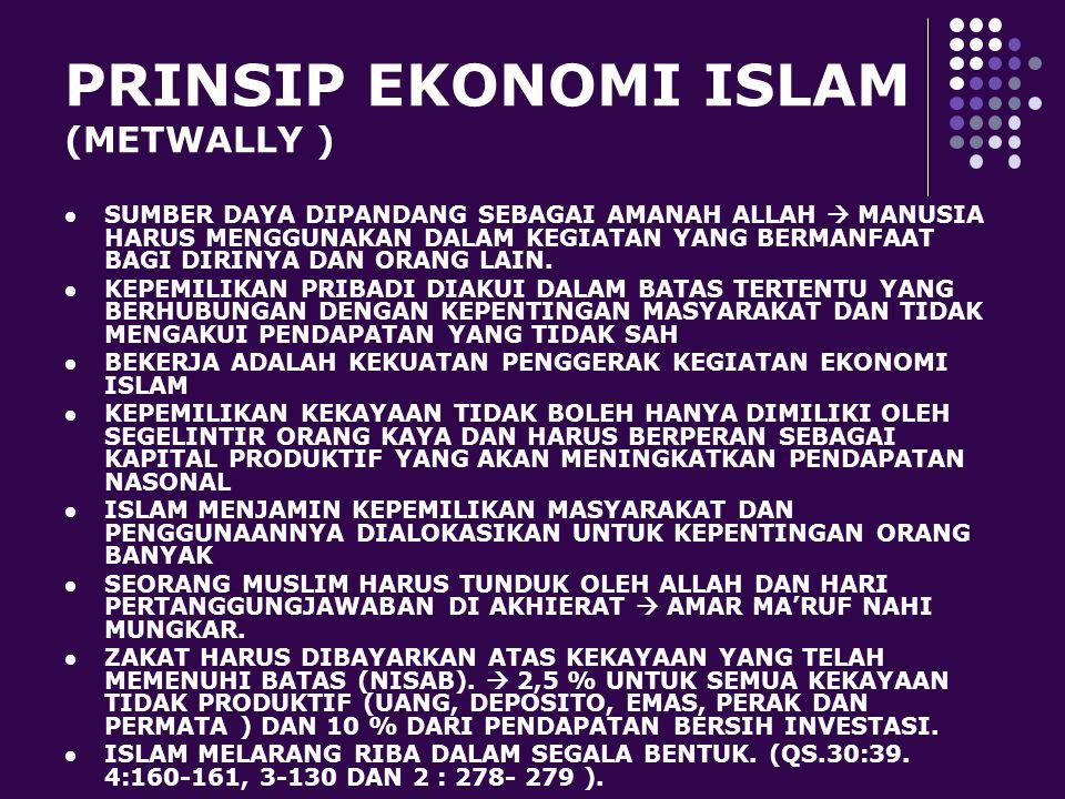 PRINSIP EKONOMI ISLAM (METWALLY )