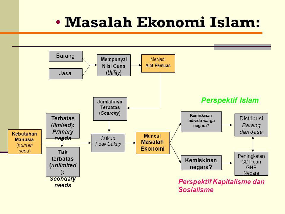Masalah Ekonomi Islam: