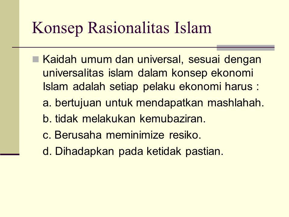 Konsep Rasionalitas Islam