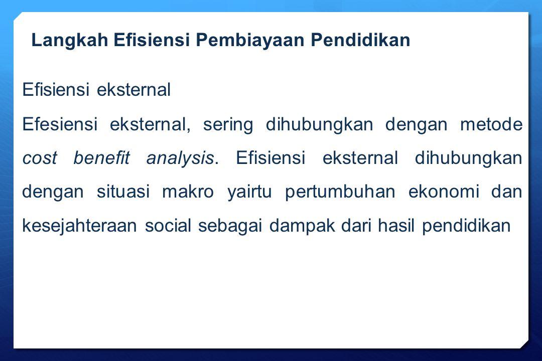 Langkah Efisiensi Pembiayaan Pendidikan