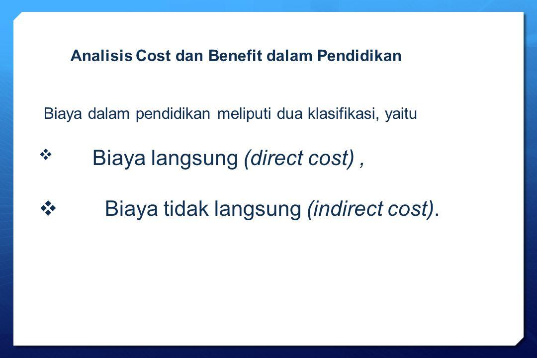 Biaya tidak langsung (indirect cost).