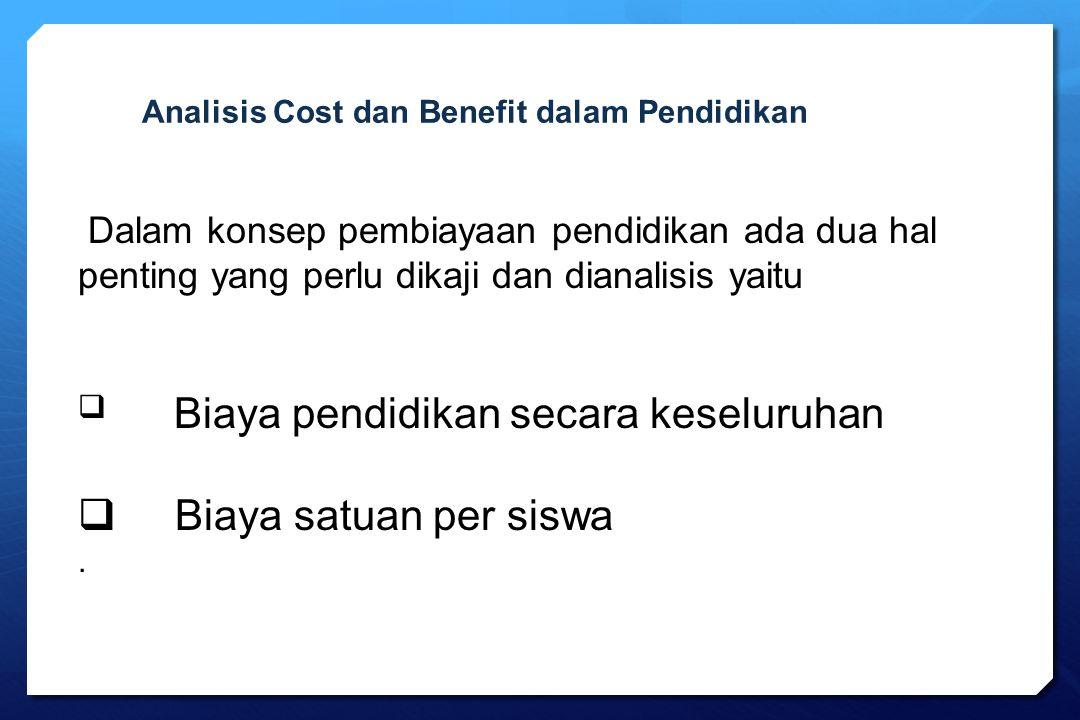 Analisis Cost dan Benefit dalam Pendidikan
