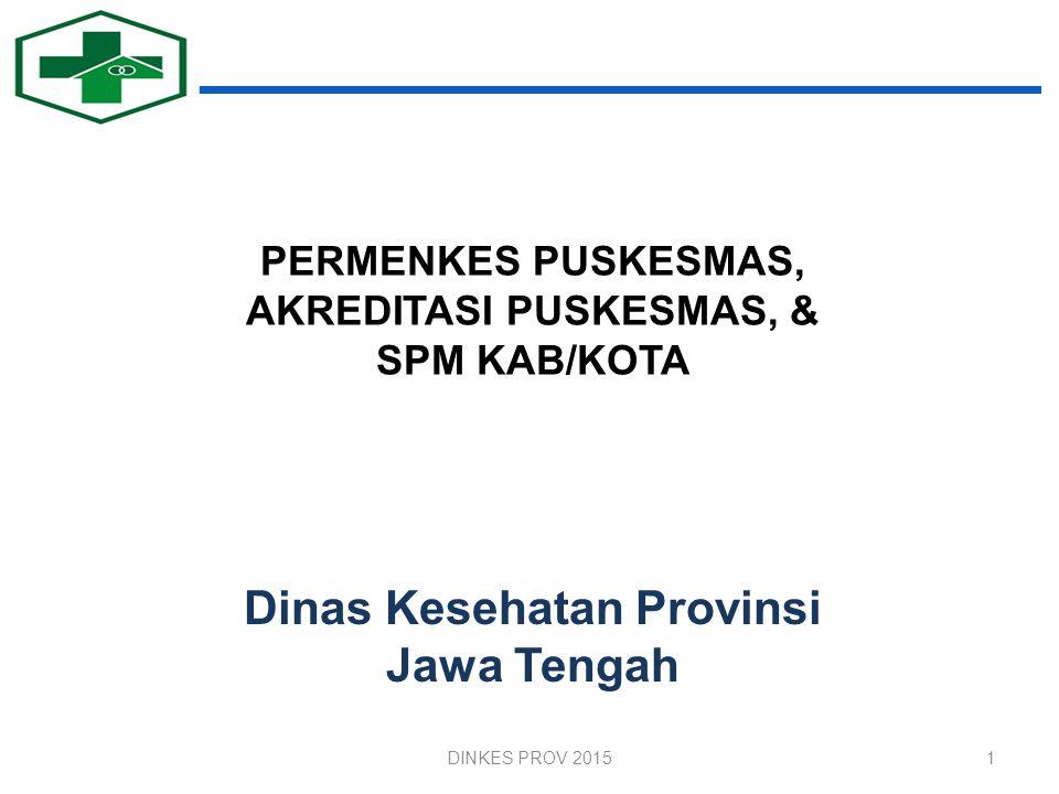 PERMENKES PUSKESMAS, AKREDITASI PUSKESMAS, & SPM KAB/KOTA