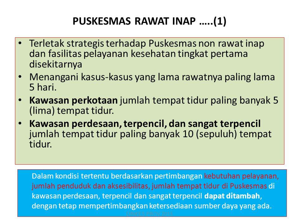 PUSKESMAS RAWAT INAP …..(1)