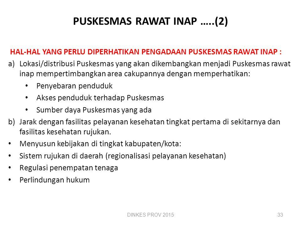 PUSKESMAS RAWAT INAP …..(2)